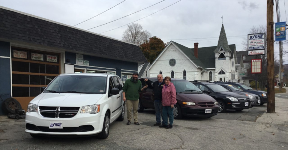 Ryan Buys New Van from Byrne Auto